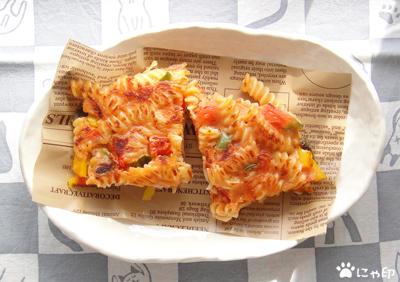 今日のミニ弁当「フジッリでイタリアン風お好み焼き」