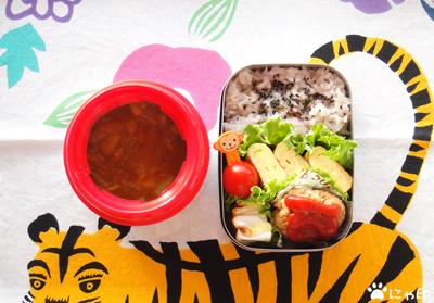 今日のMy弁当「カレー味デトックススープ&ミニ・ドカ弁」