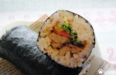 今日のMyミニ弁当「コチュジャン炒め太巻き」