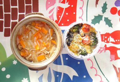 今日のMy弁当「梅味デトックススープ&豆腐みそマヨドリア」