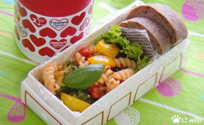 今日のMy弁当「バルサミコ酢味デトックススープ&トマトソースパスタ」
