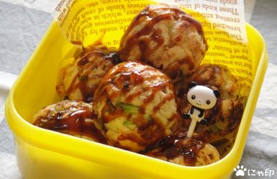 今日のMyミニ弁当「たこ焼き型お好み焼き」