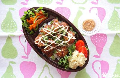 今日のMy弁当「照りチキマヨ丼」
