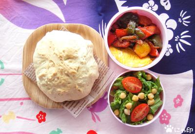 今日のMy弁当「またソーダブレッド。と野菜いろいろ。」