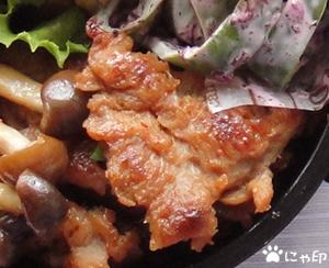 今日のMy弁当「大豆ミートで甘辛とりしめじ弁当」