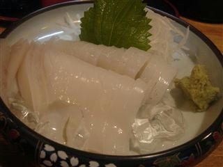 東武練馬 小料理安寿 イカ刺し