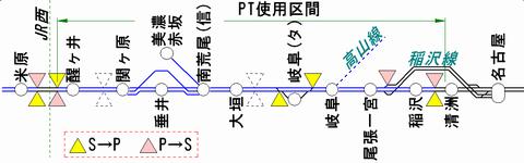 東海道線米原方 ATS-PT運用区間 2月20日現在