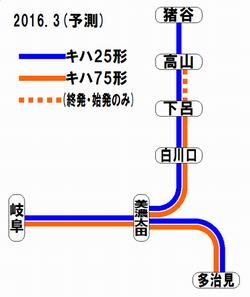 2016年3月の高山線・太多線車両運用予測