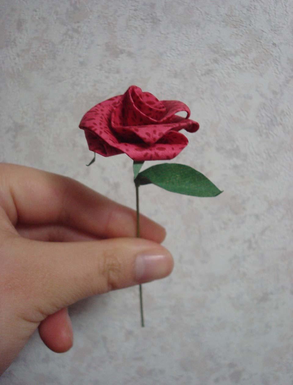 すべての折り紙 折り紙 葉っぱ 折り方 : 2010/02/05 (Fri) 折り紙バラ