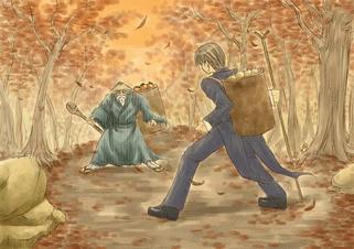 Autumn of harvest season and sports
