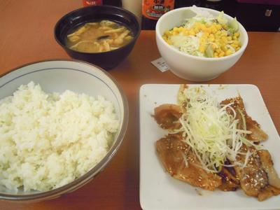 東京チカラめしの旨みそ焼き豚定食