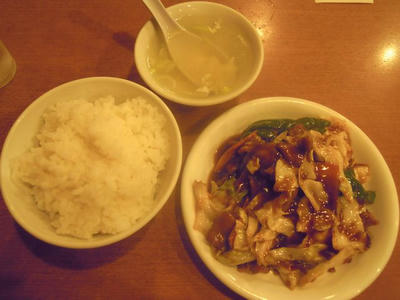 文華楼の回鍋肉定食