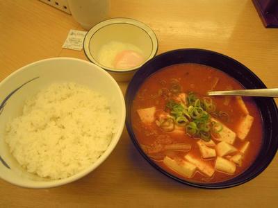 豆腐キムチチゲセット 松屋