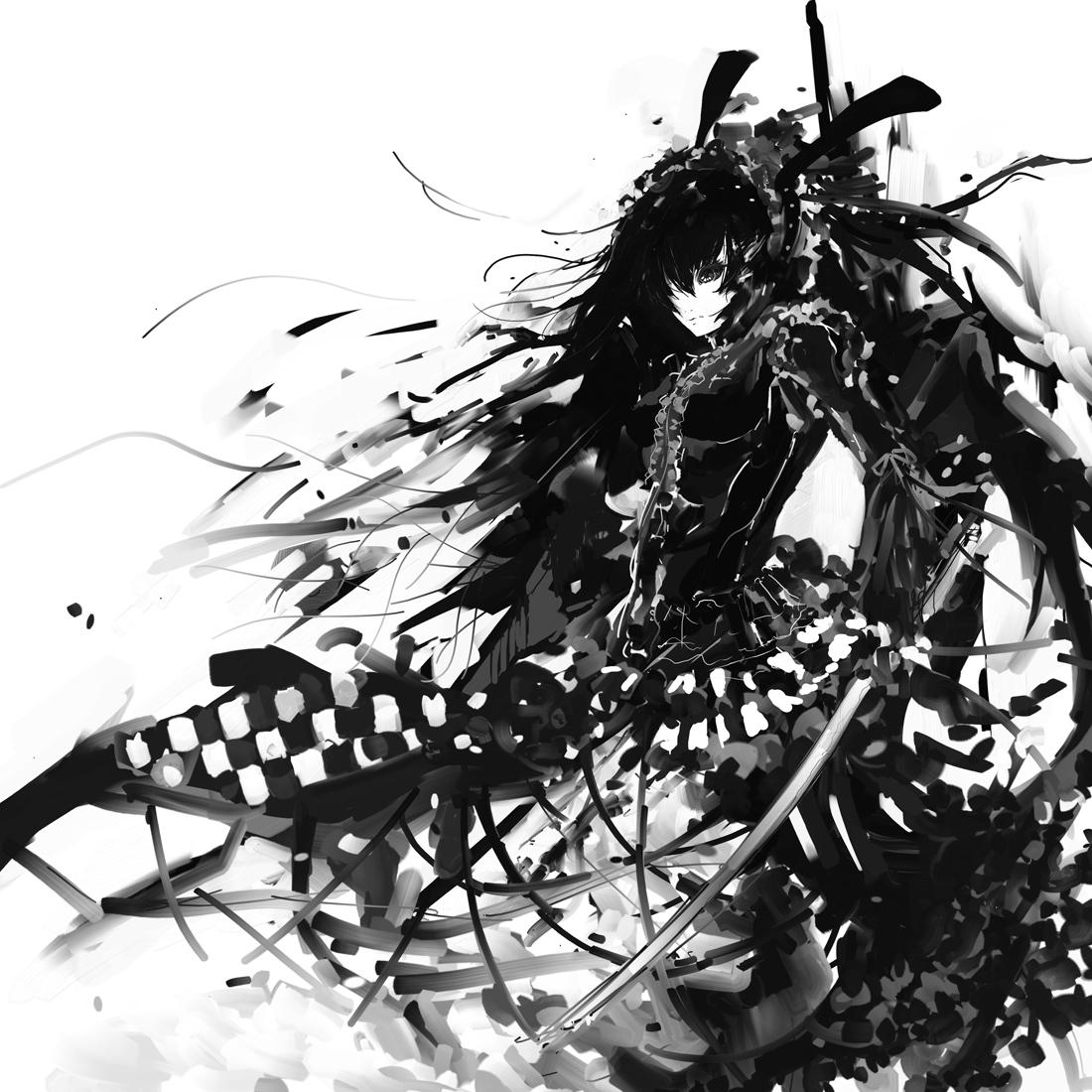 白黒 かっこいい イラスト   7331 イラス