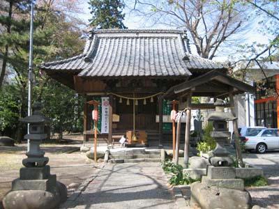 赤城神社(磯部駅近く)