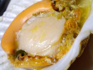 ホタテのバター焼き(殻つき)