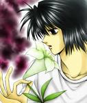 ユリの花にちゅーしようとしてるです~・・