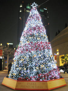 なんばパークスのクリスマスツリーvv