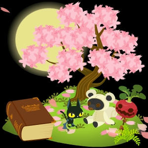 夜桜です♪
