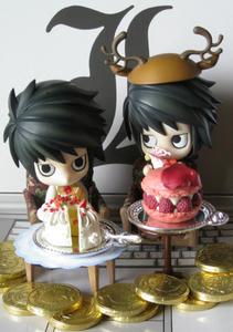 ふたりで仲良く ケーキを頂きました♪