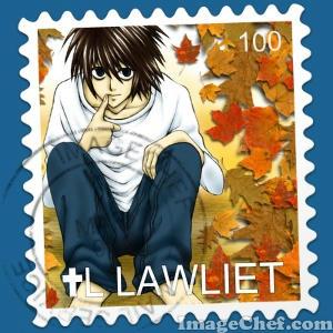 Lの切手♪