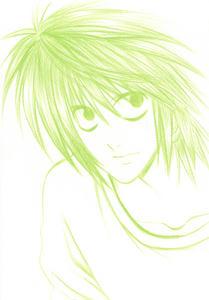 色鉛筆で落描きです