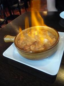 スペイン料理 小エビのニンニクオイル煮