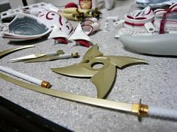 武装神姫ミズキ 武装の金色具合