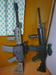 マルイ電動M4A1と中華M4s-system