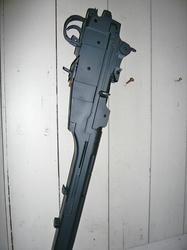 中華製M14の機関部をキャロムブラックスチールで塗装