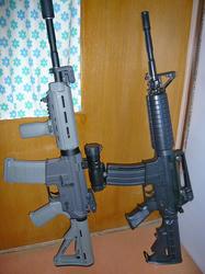 マルイ電動M4改とトイスターM4