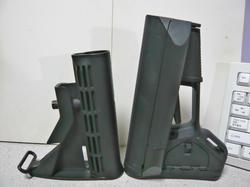 マルイスタンダード電動M4標準ブッシュマスタータイプストックとマグプルACSカービンストックレプリカ