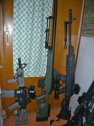 G&G CM16とマルイL96とCYMA AK47タクティカルロングバレル