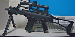 中華エアコキバレットM82A1のレイルアクセサリーをマルイBOYS G36Cに装着