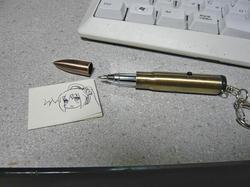 ライフル弾型LEDライト