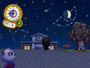 Wiiの街へいこうよどうぶつの森 流星群