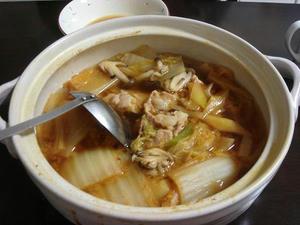 簡単レシピのキムチ鍋