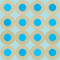 レトロポップパターン青