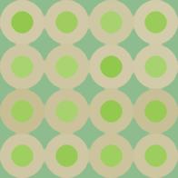 レトロポップパターン緑