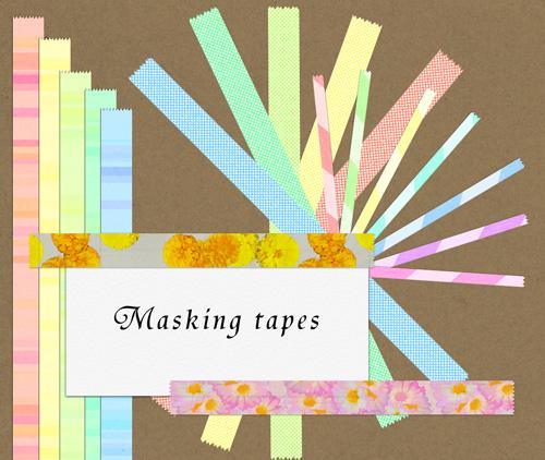 マスキングテープ19種見本画像