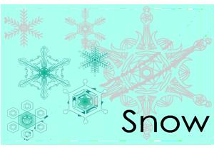 雪の結晶見本画像
