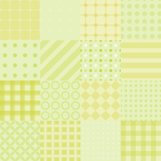 パッチワーク風・緑色