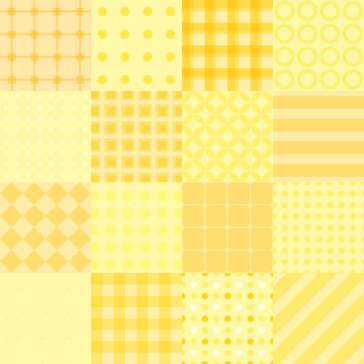 パッチワーク風・黄色