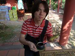 休憩中に、ベトナム・コーヒーを頂きます