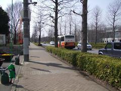駅から公園までは、バスで移動