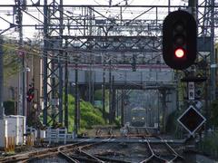 白糸台駅から南側を望む…上は京王線