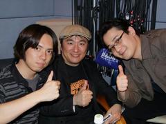 レコーディング後、丸本さんと、今回のディレクター兼ボイス・トレーナーでもある高橋さんと!