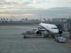 朝6時台の羽田空港にて…