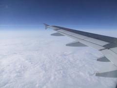 殆どが雲上飛行となりました
