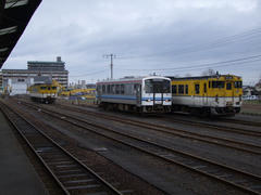 益田駅にて…列車は1両編成ばかり…